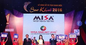 MISA SME.NET: Phần mềm kế toán duy nhất đạt Top 10 Sao Khuê 2016