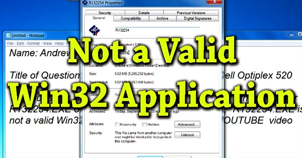 Sửa lỗi Not a Valid Win32 Application khi mở Game trên Windows