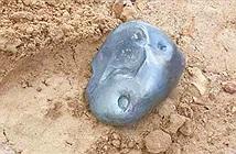 Thiên thạch kim loại nặng 2,8kg đâm xuống mặt đất
