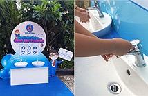 Viglacera lắp đặt miễn phí 10 trạm rửa tay kháng khuẩn tại các trường tiểu học TP.HCM