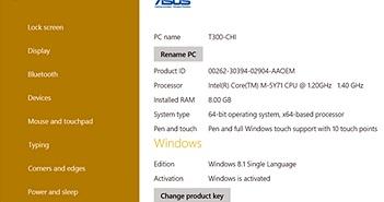 Đánh giá laptop lai Asus Transformer Book T300 Chi