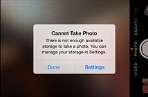 Làm gì khi iPhone và iPad hết dung lượng lưu trữ