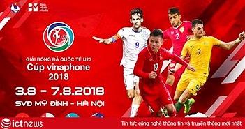 Chính thức: Danh sách đội U23 dự giải Bóng đá quốc tế - Cúp VinaPhone 2018