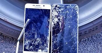 Màn thử độ bền 'cân não' giữa Galaxy Note 5 và iPhone 6 Plus