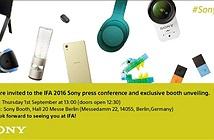 Sony hé lộ sẽ trình làng loạt sản phẩm mới ấn tượng tại IFA 2016