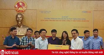 """MobiFone và UBND tỉnh Bắc Kạn ký kết phát động chương trình """"An sinh xã hội và phát triển cộng đồng"""""""