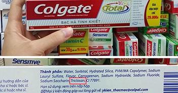 Tại sao chất Triclosan còn trong kem đánh răng?