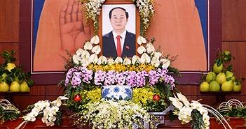 Tăng ni, phật tử TP.HCM tưởng niệm Chủ tịch nước Trần Đại Quang