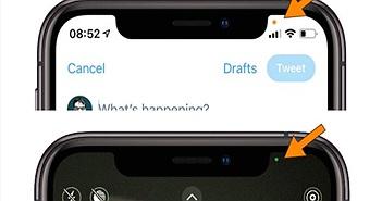 Chấm tròn cam và xanh xuất hiện trên iPhone ý nghĩa gì?