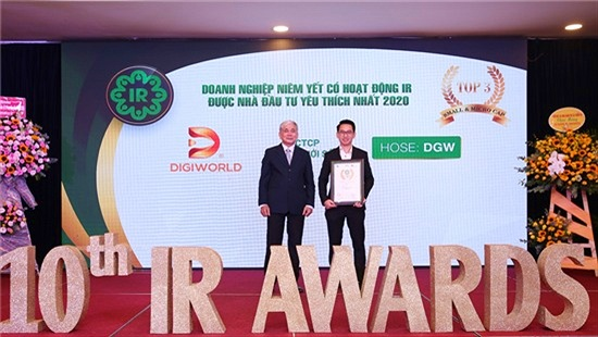 Lần thứ 3, Digiworld nhận 2 giải thưởng Doanh nghiệp Niêm yết có hoạt động IR tốt nhất