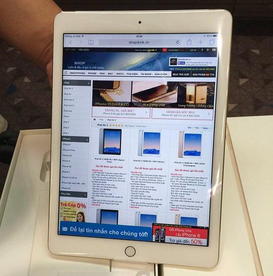 iPad Air 2 bất ngờ xuất hiện sớm tại Hà Nội
