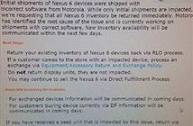 Motorola thu hồi Nexus 6 vì lỗi phần mềm