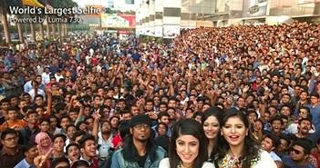 Microsoft khoe ảnh selfie đông người nhất chụp bằng Lumia 730