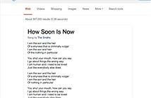 Google hiển thị lời bài hát ngay trên giao diện tìm kiếm