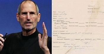 Đơn xin việc năm 1973 của Steve Jobs được rao bán 50.000 USD
