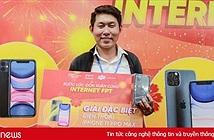 Khách hàng trúng iPhone 11 Pro Max nhờ đăng ký online sử dụng Internet và truyền hình FPT