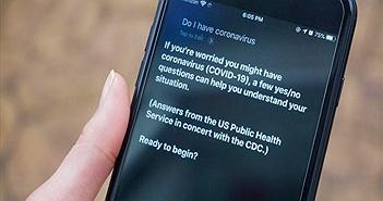 Siri có thêm khả năng tư vấn cho người dùng iPhone về COVID-19
