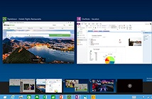 Windows 10 hỗ trợ tính năng kéo thả trong Desktop ảo