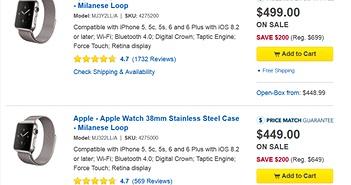 BestBuy 'mạnh tay' giảm 4 triệu đồng Apple Watch, iPad Mini 2