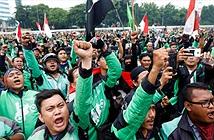 Hàng ngàn xe ôm công nghệ Indonesia biểu tình đòi mức giá chở khách xứng đáng hơn