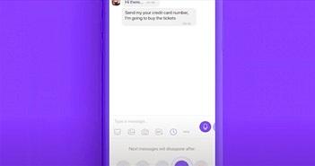 """Viber tung tính năng """"hô biến"""" tin nhắn trong các cuộc trò chuyện thông thường"""