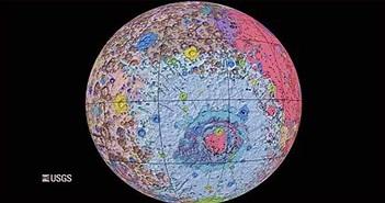 Bản đồ địa chất toàn diện đầu tiên về bề mặt của Mặt trăng