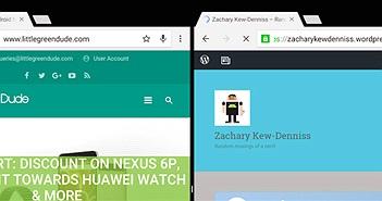 Android N cho phép mở hai tab Chrome song song nhau khi chạy đa nhiệm chia màn hình