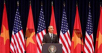 """Ông Obama trích dẫn """"Nam Quốc Sơn Hà"""" trong bài phát biểu trước 2.000 bạn trẻ Việt"""