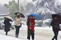 Tuyết rơi giữa mùa hè ở Trung Quốc