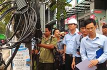 Hà Nội: Ra quân kiểm tra việc lắp đặt đường dây, cáp đi nổi