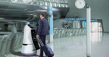 """Sân bay Seoul sắp có """"hướng dẫn viên"""" và """"lao công"""" là robot của LG"""