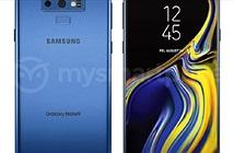 Galaxy Note 9 lộ diện với màu xanh san hô mát mắt
