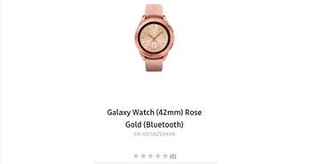 Lộ Galaxy Watch cỡ 42mm, màu hồng và tích hợp Bixby