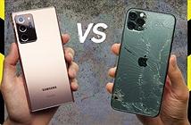 Kính cường lực mới trên Galaxy Note20 Ultra đánh bại iPhone 11 Pro Max