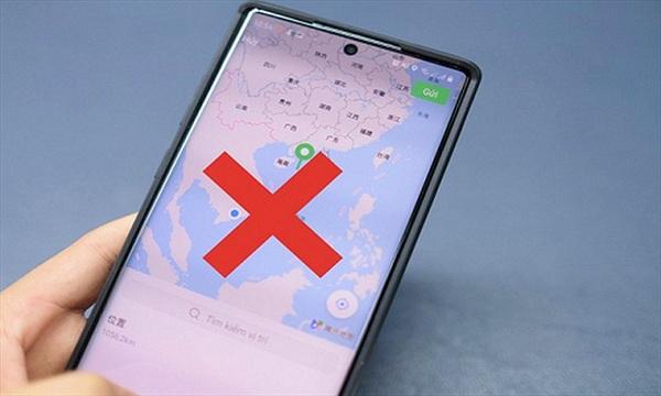 WeChat lại hiển thị bản đồ có đường lưỡi bò phi pháp