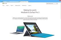 Microsoft dìm hàng Apple với trang web giới thiệu Surface Pro 3