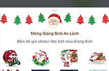 Zalo tung bộ sticker Giáng sinh vui nhộn