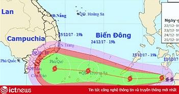 VNPT, MobiFone, Viettel phải đảm bảo thông tin liên lạc khi bão Tembin đổ bộ
