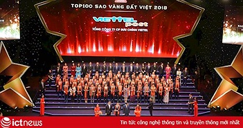 Bưu chính Viettel lần thứ hai nhận giải Sao vàng đất Việt