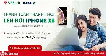 Nạp tiền điện tử trên VPBank online trúng Iphone XS