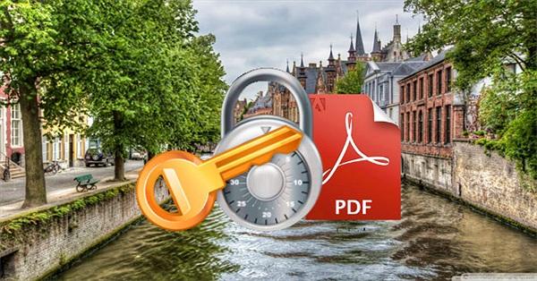 5 bước gỡ bỏ mật khẩu PDF trực tuyến