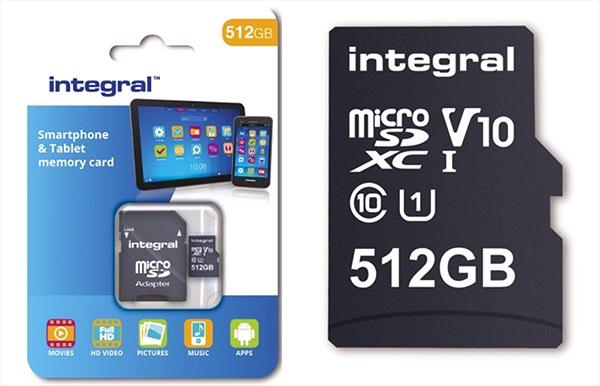 Thẻ nhớ 512 GB đầu tiên thế giới cho smartphone