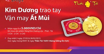 Mua Kim Dương, nhận lì xì may mắn của TPBank