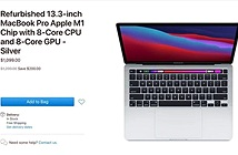 Apple bán MacBook Pro 13 inch M1 refurbished rẻ hơn 200 USD