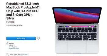 Apple bán MacBook Pro 13 inch M1 refurbished rẻ hơn 200 USD