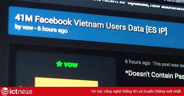 Lộ thông tin tài khoản 41 triệu người dùng Facebook Việt Nam?