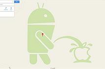 Google Maps xuất hiện hình ảnh Android tè lên logo Apple