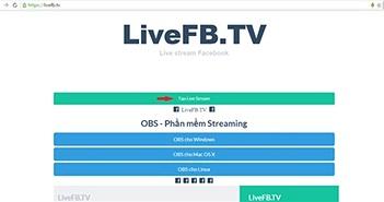 Cách live video trên Facebook bằng máy tính