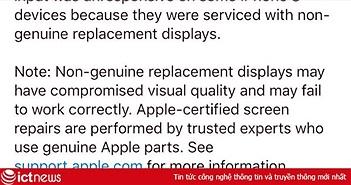 """Apple cảnh báo người dùng iOS mới nhất: """"không để bên thứ ba sửa chữa iPhone và iPad"""""""