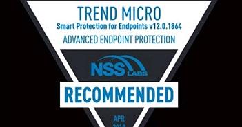 Công nghệ Endpoint Security 2018 của Trend Micro có tính bảo mật cao